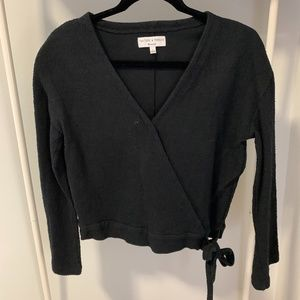 Madewell Texture and Thread Wrap Top